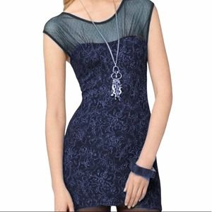 FREE PEOPLE  BODYCON Dress, Teal Gold MED NWT
